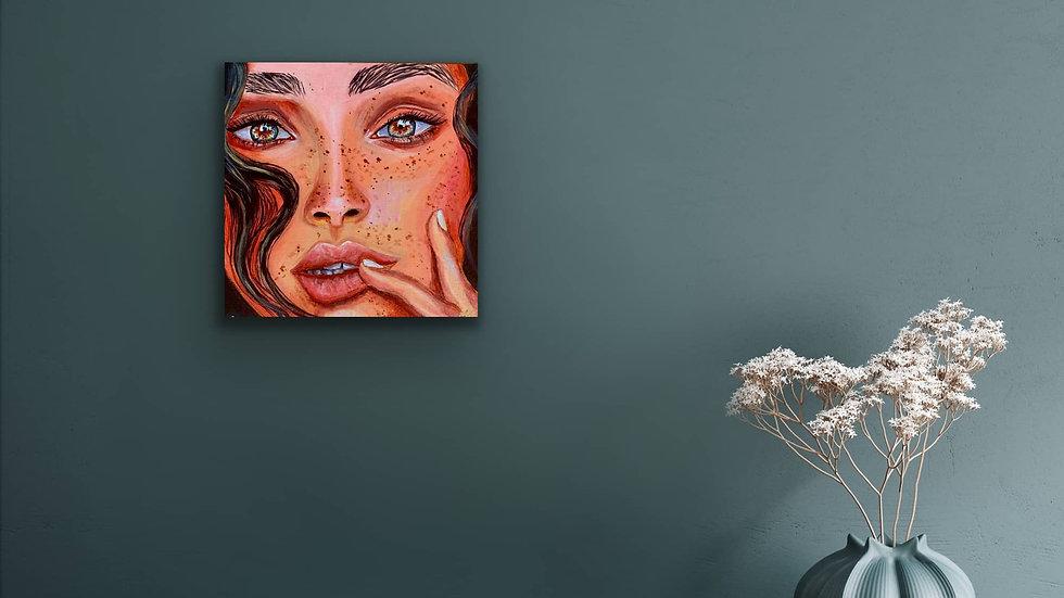 """Summer"" 10x10 Hand Painted Original Acrylic Canvas"