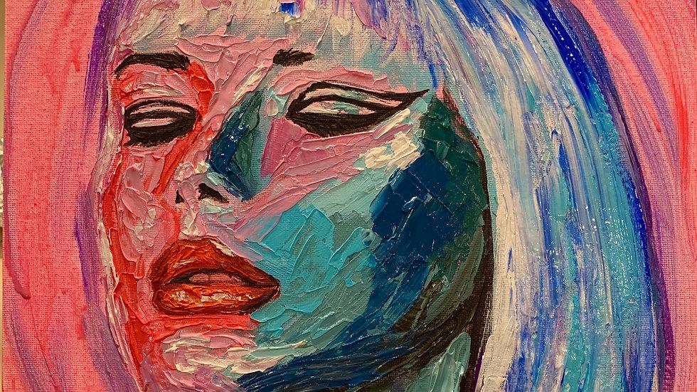 """""""Asha"""" 12x12 acrylic on canvas panel"""