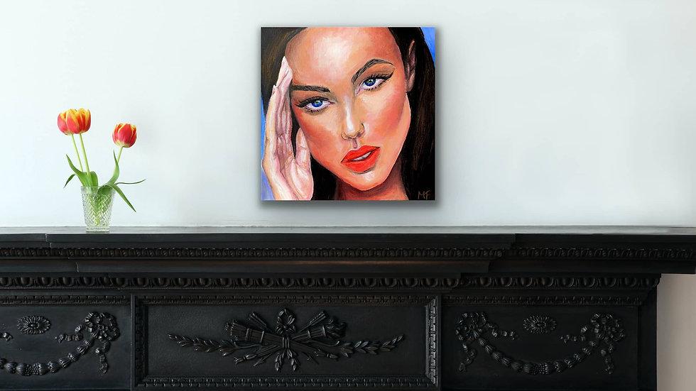 """Tonya"" 12x12 Hand Painted Original Acrylic Canvas"