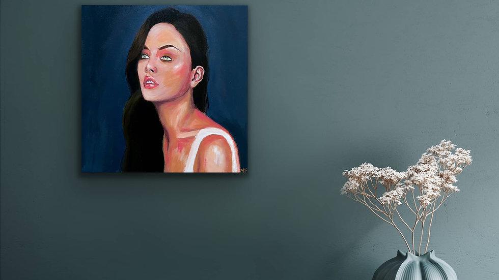 """Daisy"" 14x14 Hand Painted Original Acrylic Canvas"