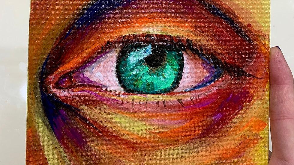 """""""Eye of Endurance"""" 6x6 Acrylic canvas panel"""