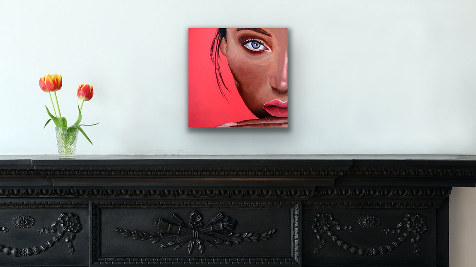 """Liza"" 10x10 Hand Painted Original Acrylic Canvas"