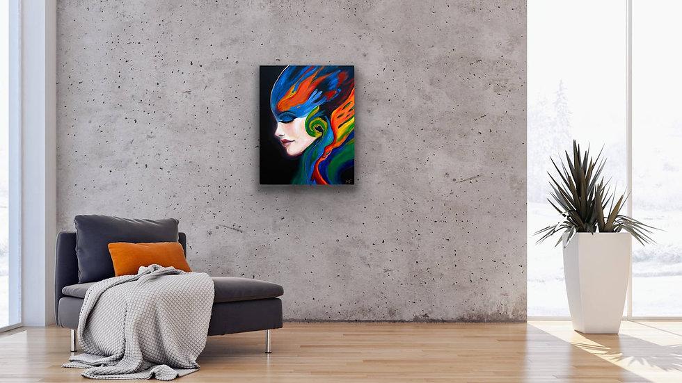 """Forgotten Warrior"" 20x16 Hand Painted Original Acrylic Canvas"