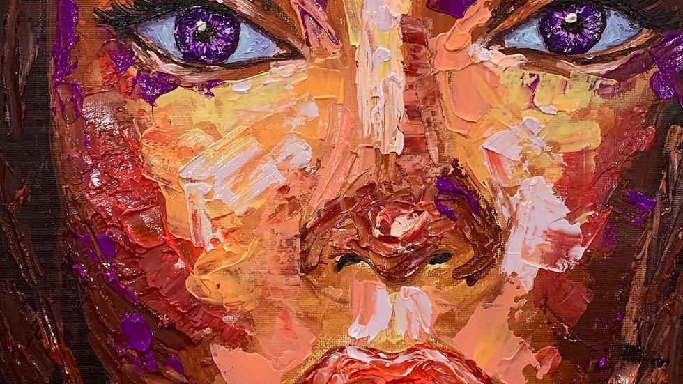 """Neoma"" 12x12 Acrylic Canvas Panel"