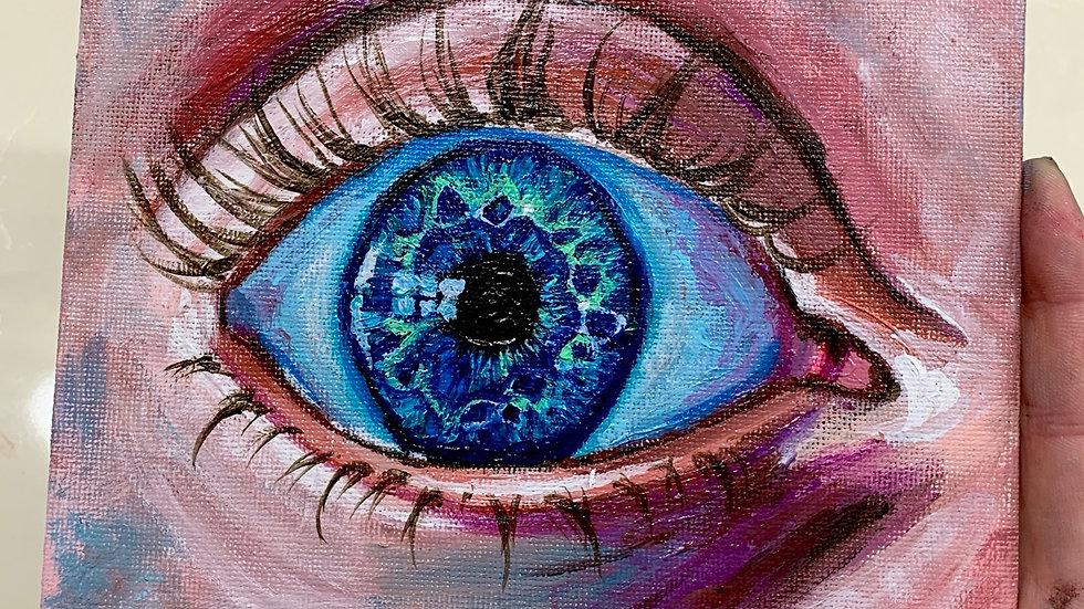 """Element of Surprise"" 6x6 Acrylic canvas panel"