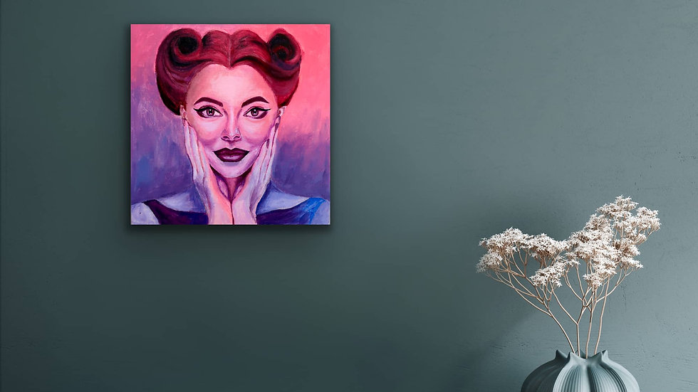 """Ellie"" 12x12 Hand Painted Original Acrylic Canvas"