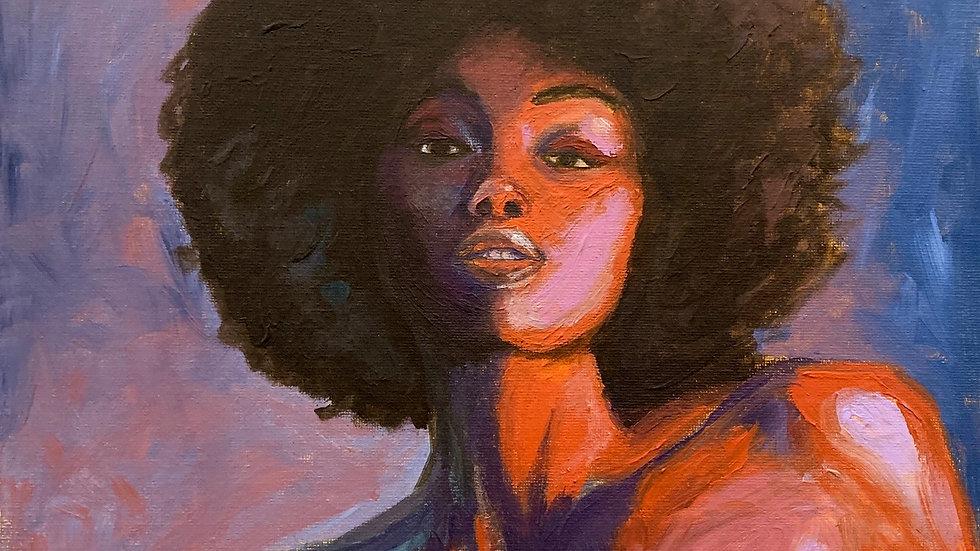 """""""Vivian"""" 12x12 Acrylic canvas panel"""
