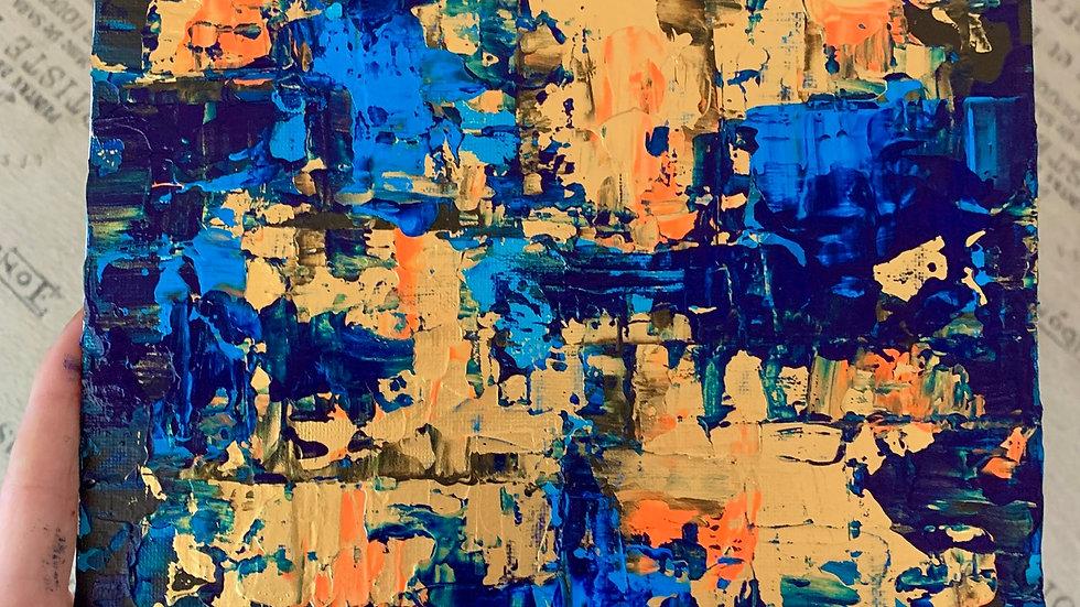 """Infinity's Edge"" 6x6 acrylic canvas panel"