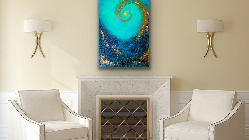 """""""Through the Surface"""" 24x36 Acrylic Stretched Canvas"""