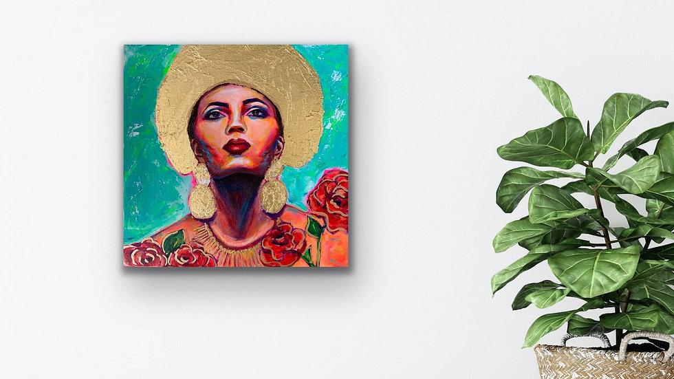 """Arcadia"" 12x12 Acrylic Stretched Canvas"