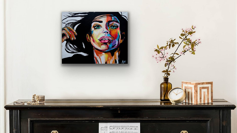 """VacantDreams"" 16x20 Hand Painted Original Acrylic Canvas"