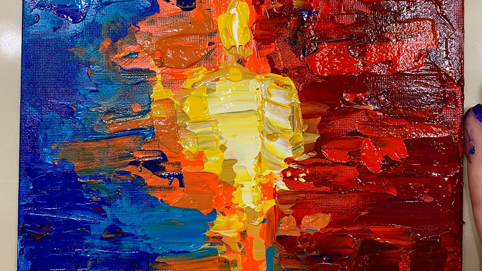 """The Rift"" 8x8 Acrylic canvas panel"