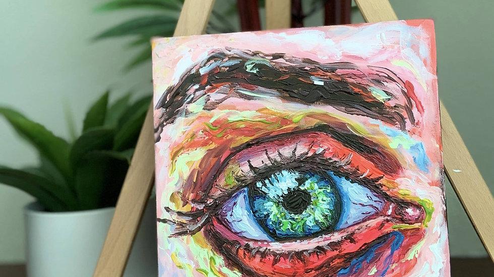 """Eye of the Beholder"" Acrylic 8x8 Birchwood Canvas"