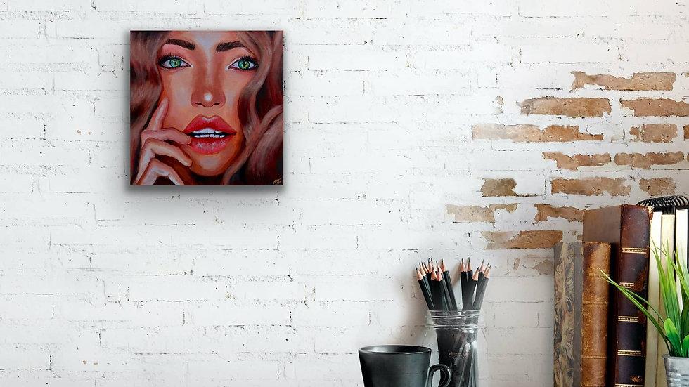 """Penelope"" 12x12 Hand Painted Original Acrylic Canvas"