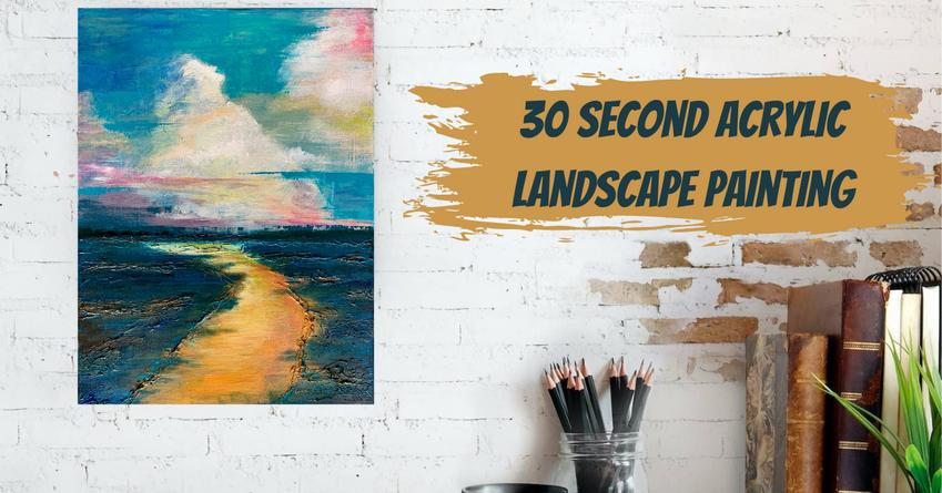 """Golden Road"" Acrylic Landscape"