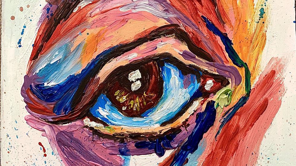 """""""Incongruent"""" 8x8 Acrylic on birchwood canvas"""