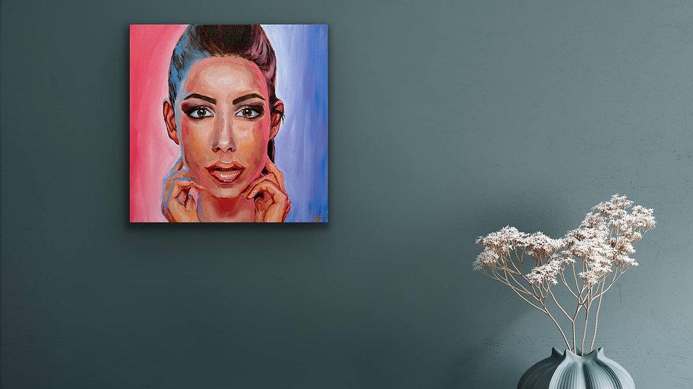 """Molly"" 12x12 Hand Painted Original Acrylic Canvas"