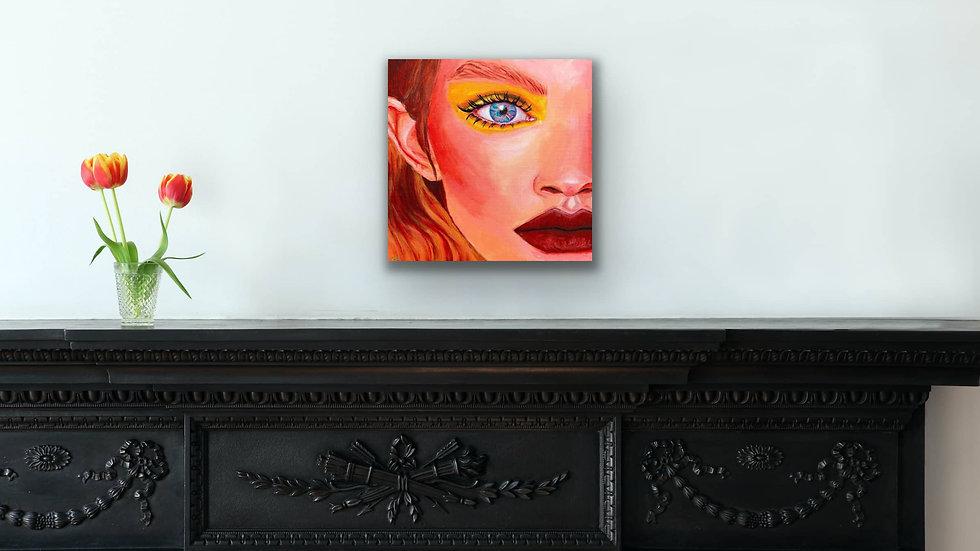 """Zinnia"" 10x10 Acrylic Canvas Panel"