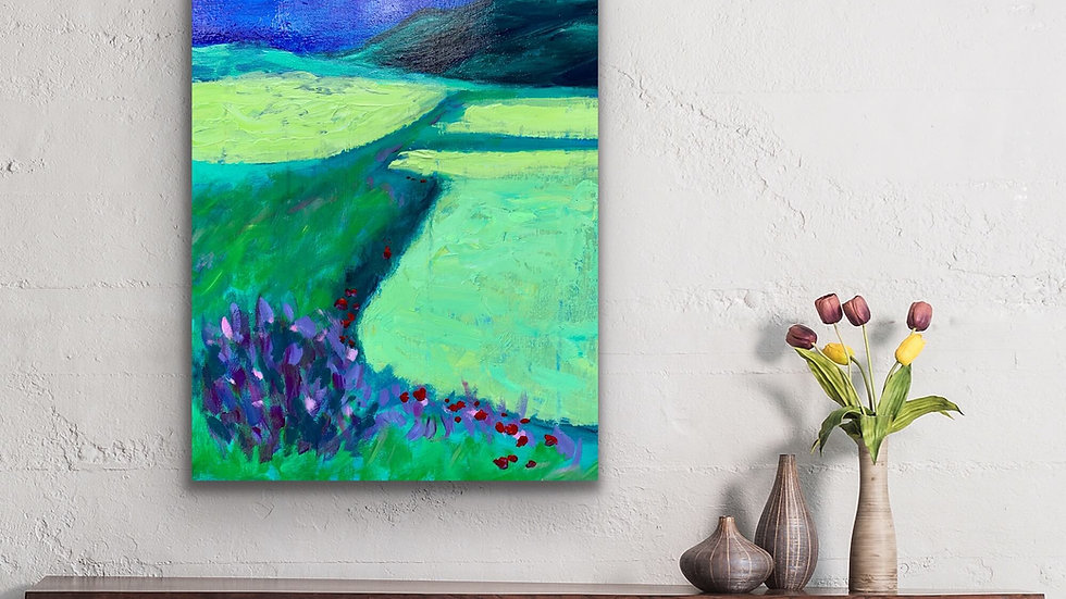 """Enrichment"" 20x16 Acrylic Stretched Canvas"