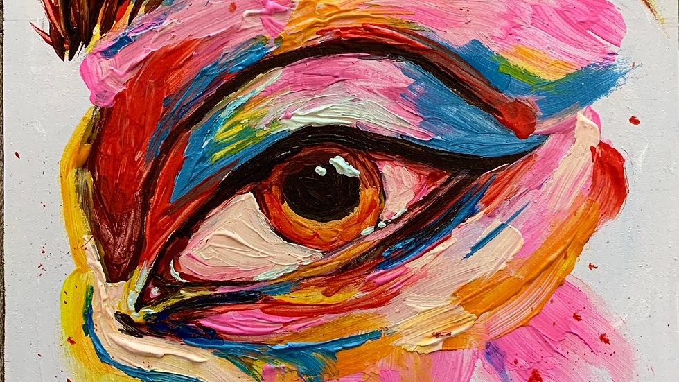 """Brilliance"" Acrylic 8x8 wood canvas"
