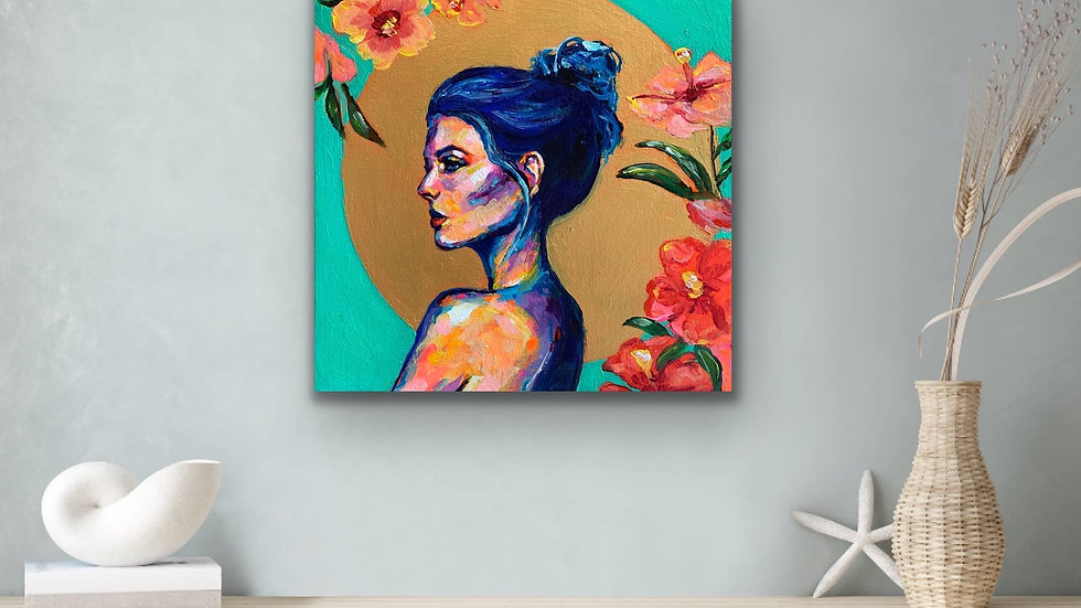 """Pua"" 12x12 Acrylic Stretched Canvas"