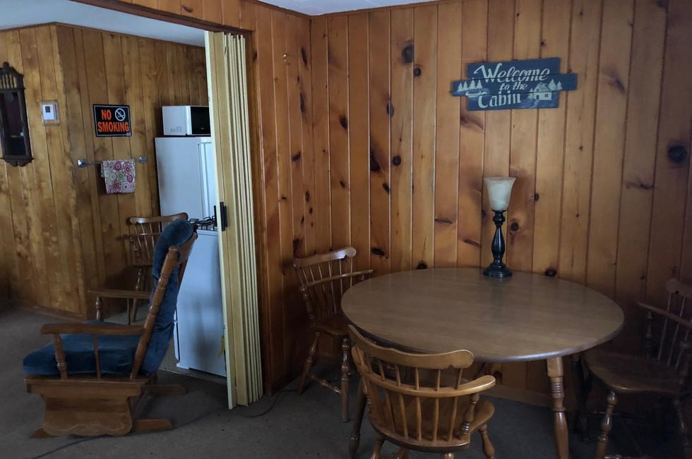 Cabin Rental Kitchenette