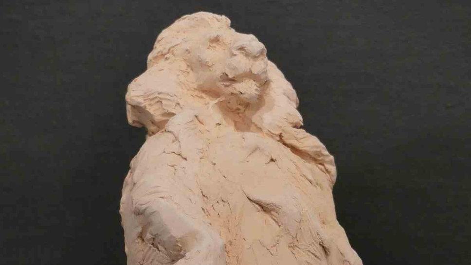 Le roi lion, terre-cuite rose, pièce unique