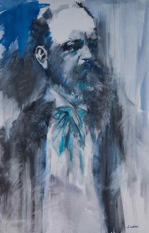 Portrait de Dvorak, peinture sur toile
