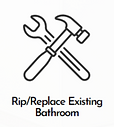 Master Kitchens & Baths Rip/Replace Existing Bathroom
