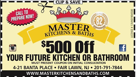 Master Kitchens & Baths $500.00 Off Coupon