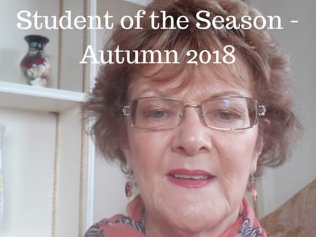 Student of the Season - Autumn 2018