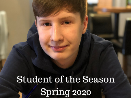 Student of the Season - Spring 2020