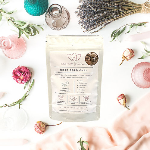 'ROSE GOLD CHAI' Organic Loose Leaf Tea 40g