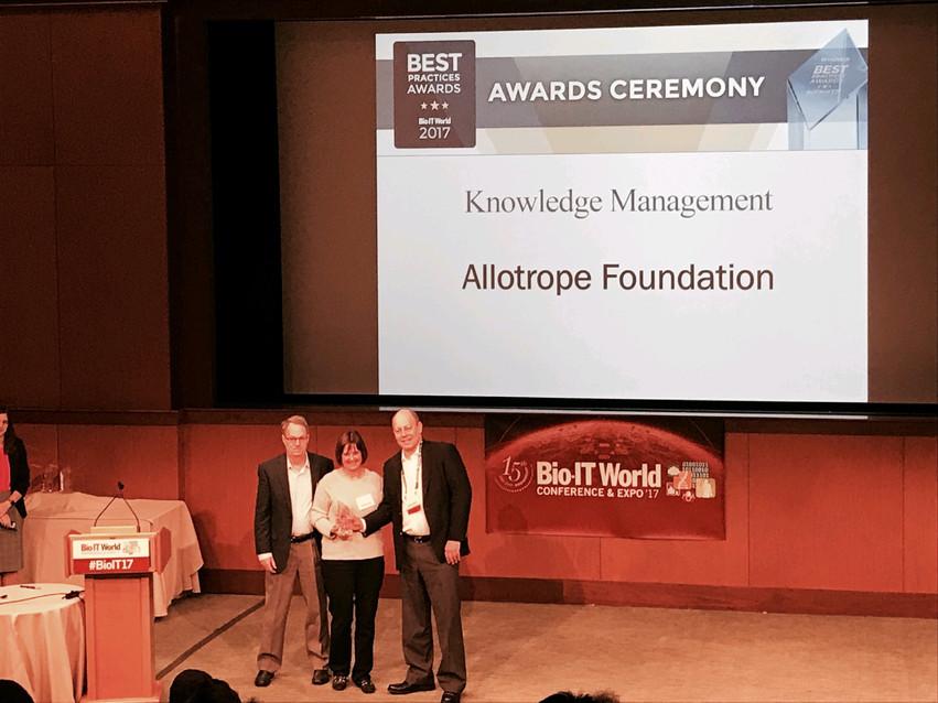 allotrope dana getting award