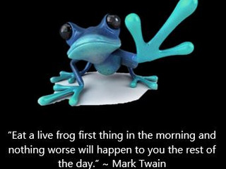 6 Tips for Working from Home - Swallow a Frog!