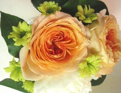 センターピースの花