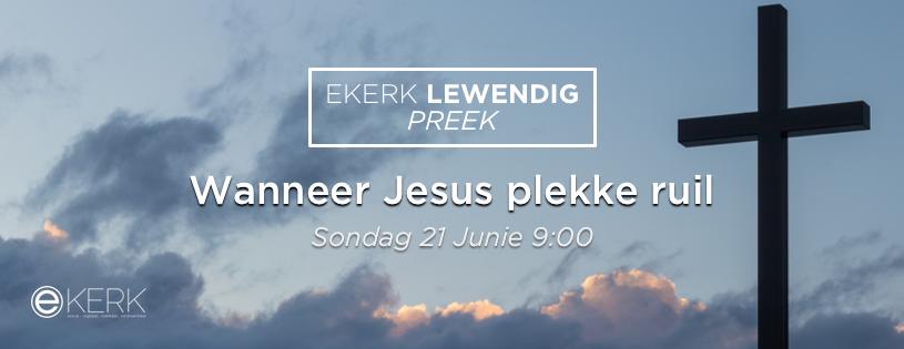 """Kom kuier saam Sondag oggend 21 Junie 2020 om 9:00 waar Stephan Joubert met ons tydens ons Ekerk Lewendig Preek uitsending gesels oor """"Wanneer Jesus plekke ruil"""" Sien jou dan."""