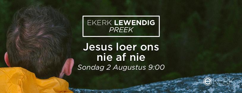"""Kom kuier saam rondom God se Woord by ons Ekerk Lewendig Preek uitsending. Stephan Joubert se tema vir die oggend is """"Jesus loer ons nie af nie."""". Almal is welkom!"""