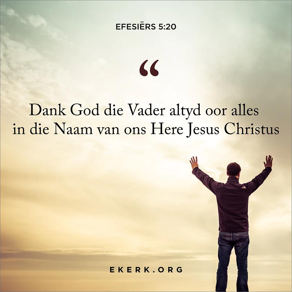 Stephan Joubert skryf in hierdie Heilige Gees artikel oor nog 'n lewensbelangrike bewys van die vervulling met die Here se Gees is 'n lewe van dankbaarheid.
