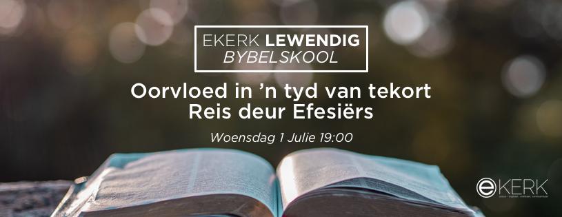 """Kom reis verder saam waar prof Jan van der Watt ons reis begelei deur die Efesiërsbrief. Die tema vir ons reis is """"Oorvloed in 'n tyd van tekort"""". Ons reis verder eerskomende Woendag met Efesiërs 4. Sien jou daar!"""