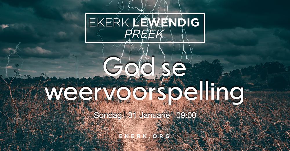 Sondag oggend 31 Januarie om 9:00 is Stephan Joubert aan die woord tydens ons Ekerk Lewendig Preek.