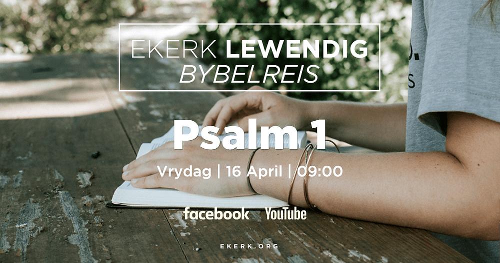Ons begin Vrydag 16 April met ons nuwe Bybelreis deur die Psalms. Stephan Joubert behartig hierdie eerste episode en hy gaan stilstaan by Psalm 1. Jy is so welkom om saam met ons deur die Psalms te reis.