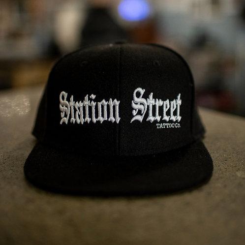 Classic Black Station Street Snap Back