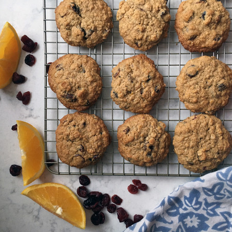Toasty Oat-y Cranberry Cookies