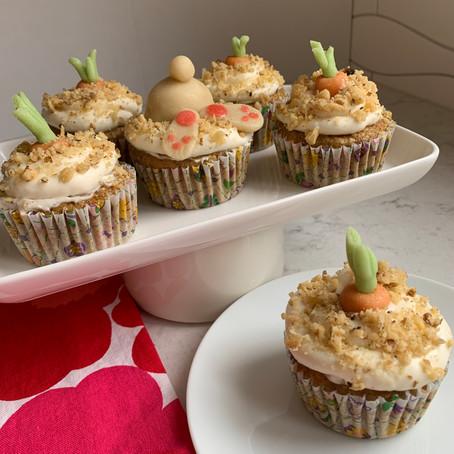 Hop-py Carrot Cupcakes