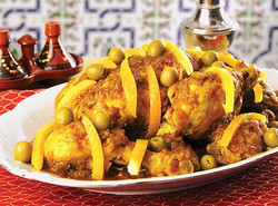 Tajin de pollo al limón con olivas