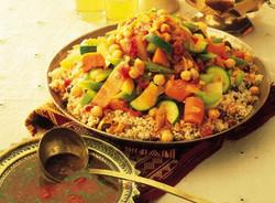Cous-cous de verduras con carne