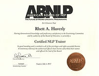 Certified NLP Trainer