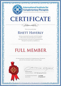 Rhett Haverly IICT Certified