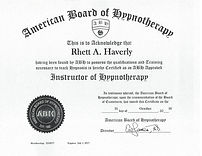 Instructor of Hypnotherapy